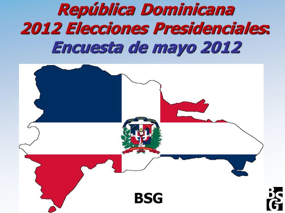 República Dominicana 2012 Elecciones Presidenciales: Encuesta de mayo 2012