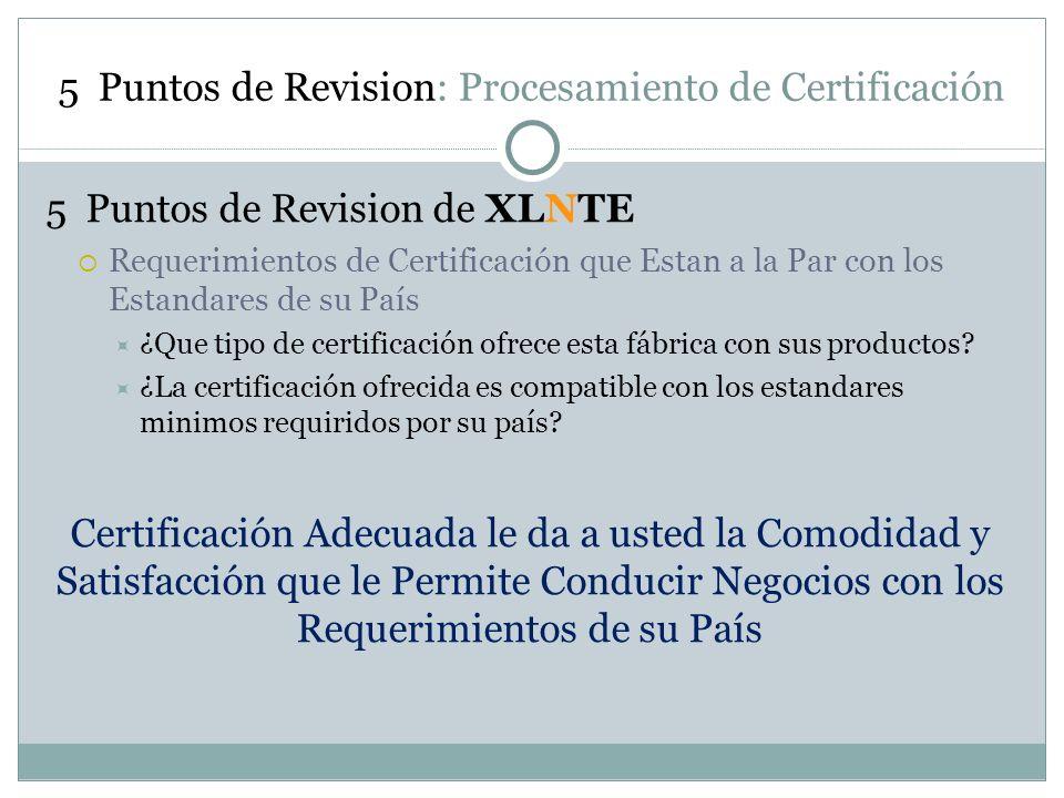 5 Puntos de Revision: Procesamiento de Certificación