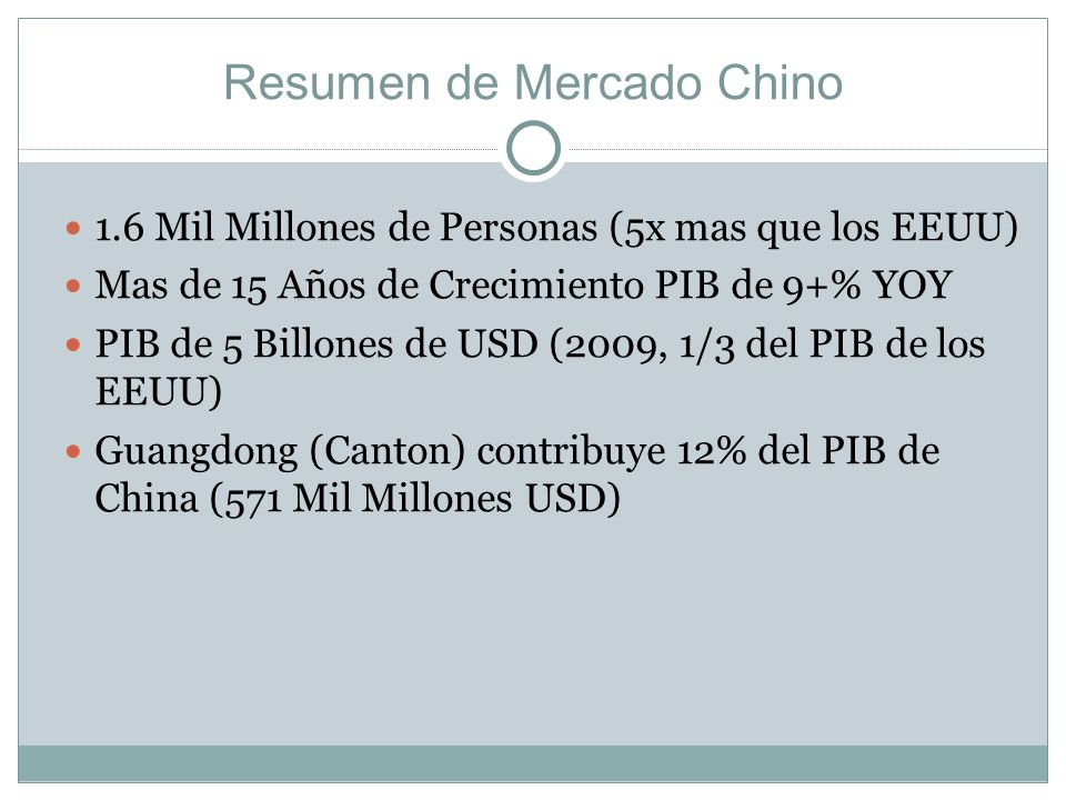 Resumen de Mercado Chino