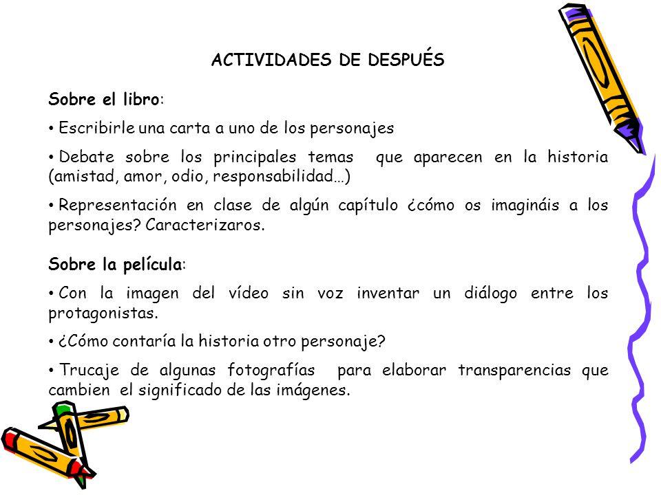ACTIVIDADES DE DESPUÉS