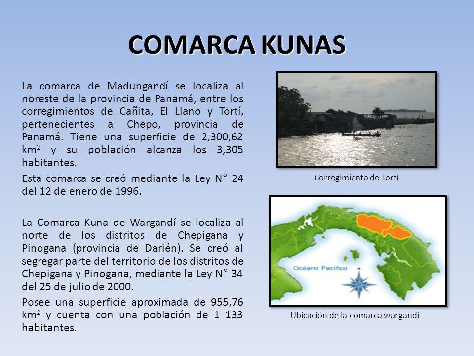 COMARCA KUNAS Corregimiento de Tortí.