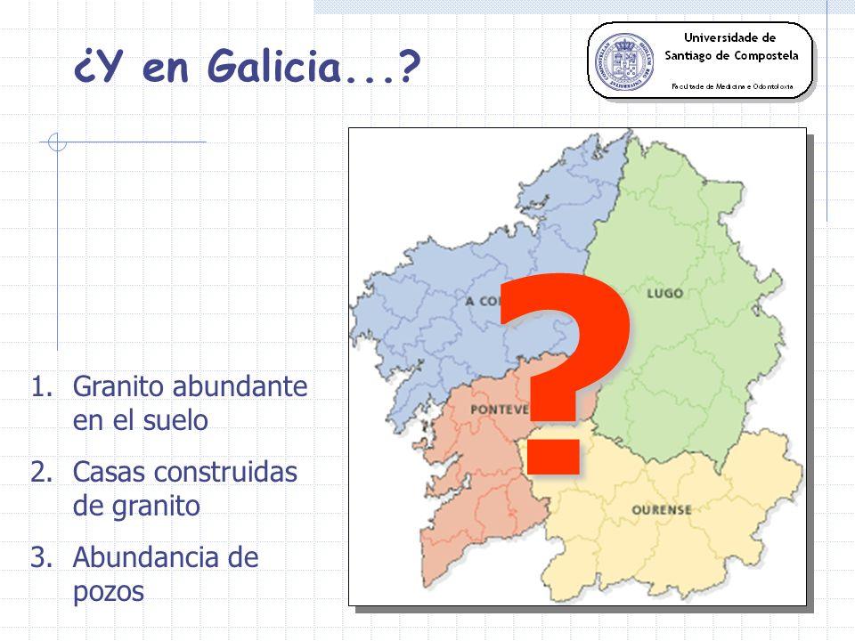 ¿Y en Galicia... Granito abundante en el suelo