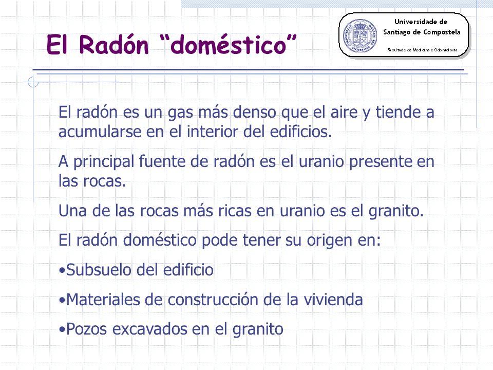 El Radón doméstico El radón es un gas más denso que el aire y tiende a acumularse en el interior del edificios.