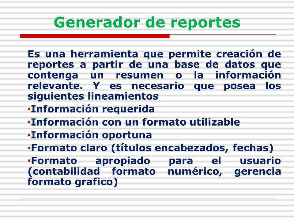 Generador de reportes