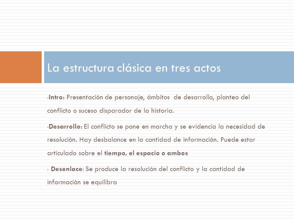 La estructura clásica en tres actos