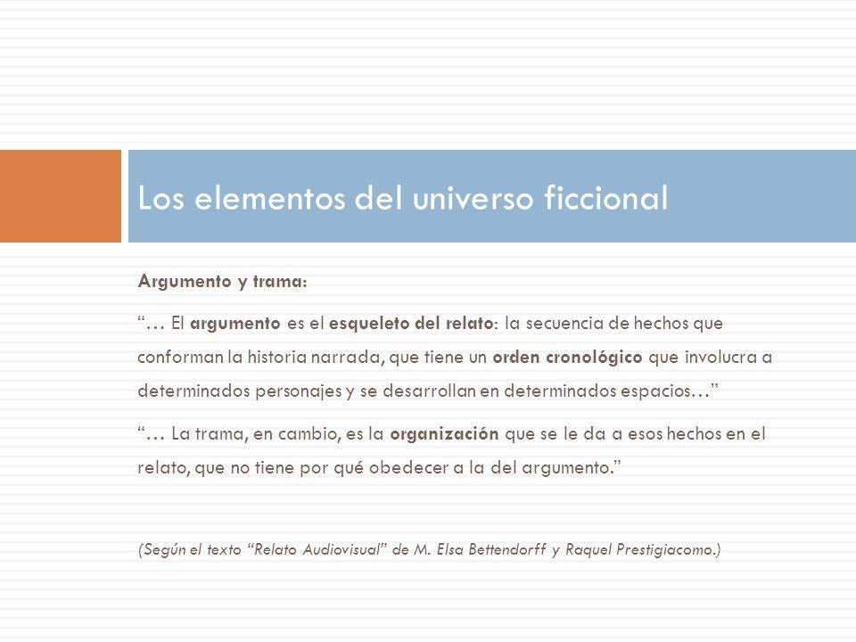 Los elementos del universo ficcional