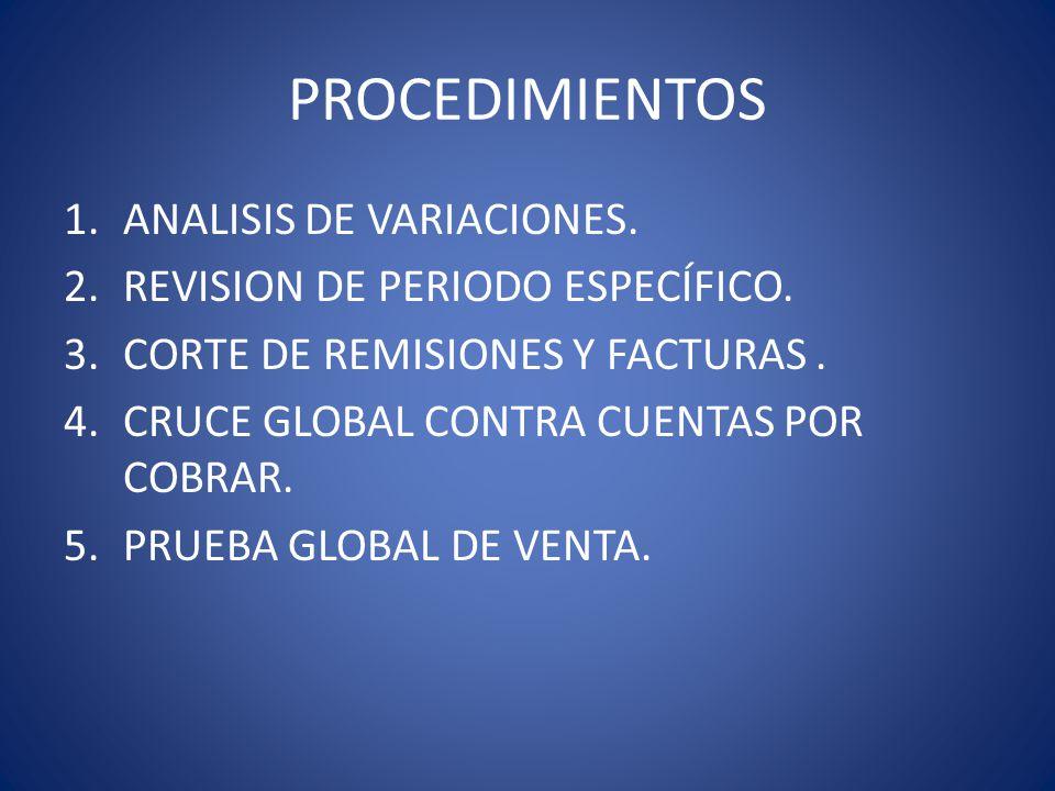 PROCEDIMIENTOS ANALISIS DE VARIACIONES.