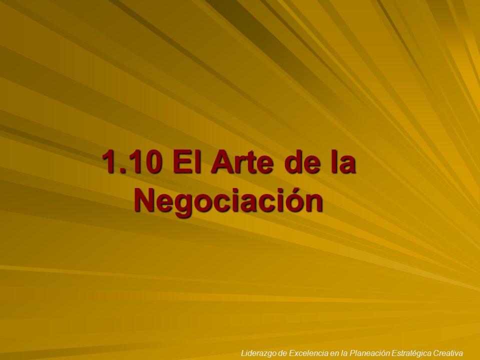 1.10 El Arte de la Negociación