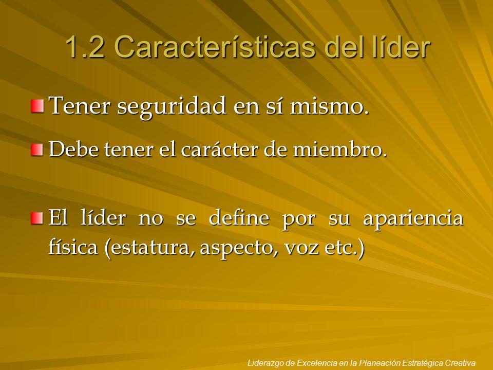 1.2 Características del líder