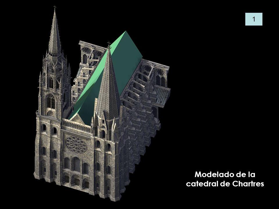 Modelado de la catedral de Chartres