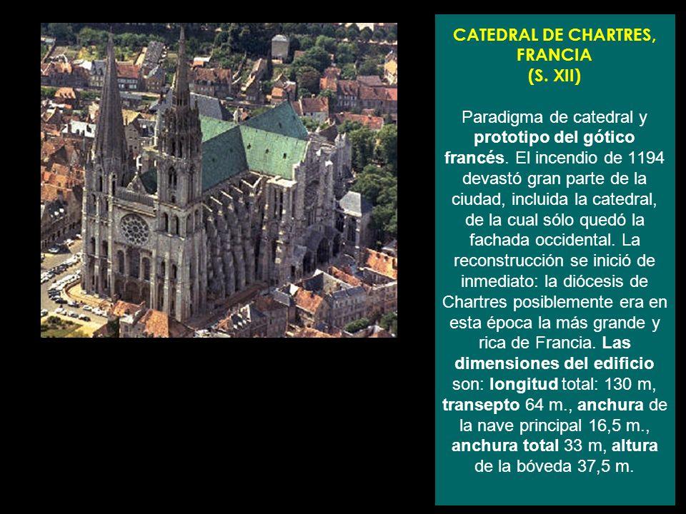 CATEDRAL DE CHARTRES, FRANCIA (S
