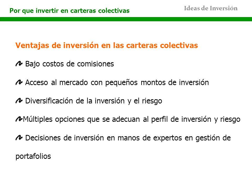 Ventajas de inversión en las carteras colectivas
