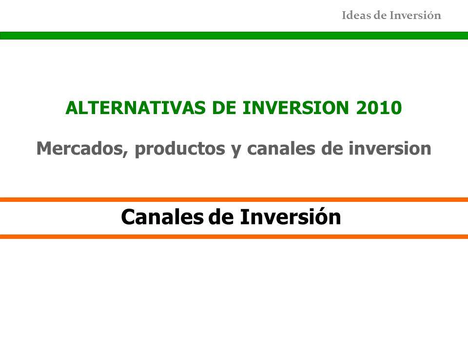 Canales de Inversión ALTERNATIVAS DE INVERSION 2010
