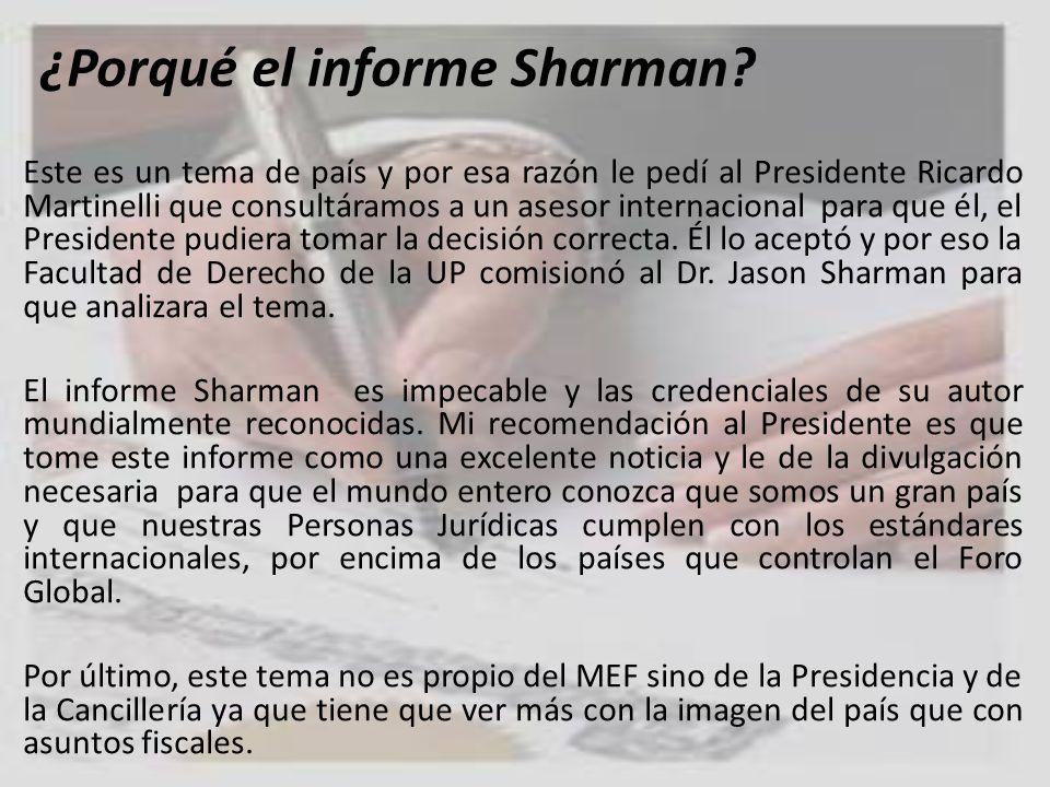 ¿Porqué el informe Sharman