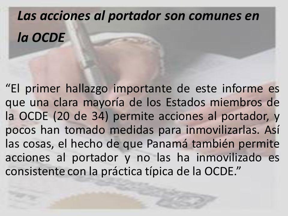 Las acciones al portador son comunes en la OCDE