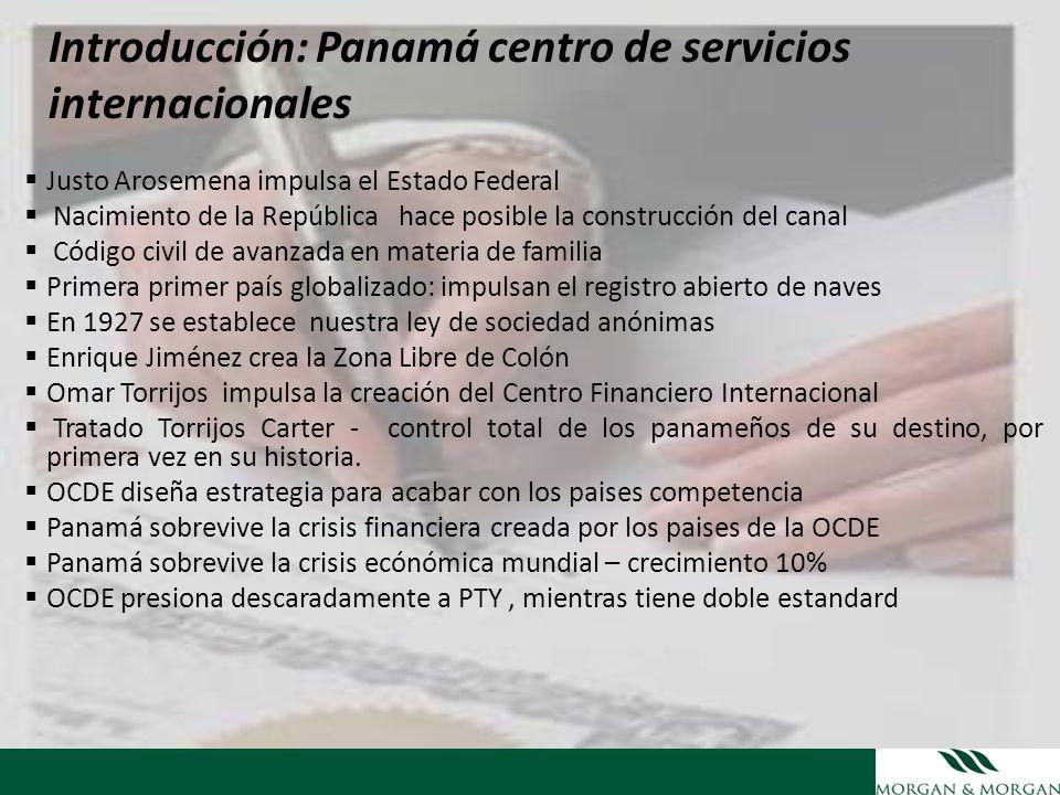 Introducción: Panamá centro de servicios internacionales