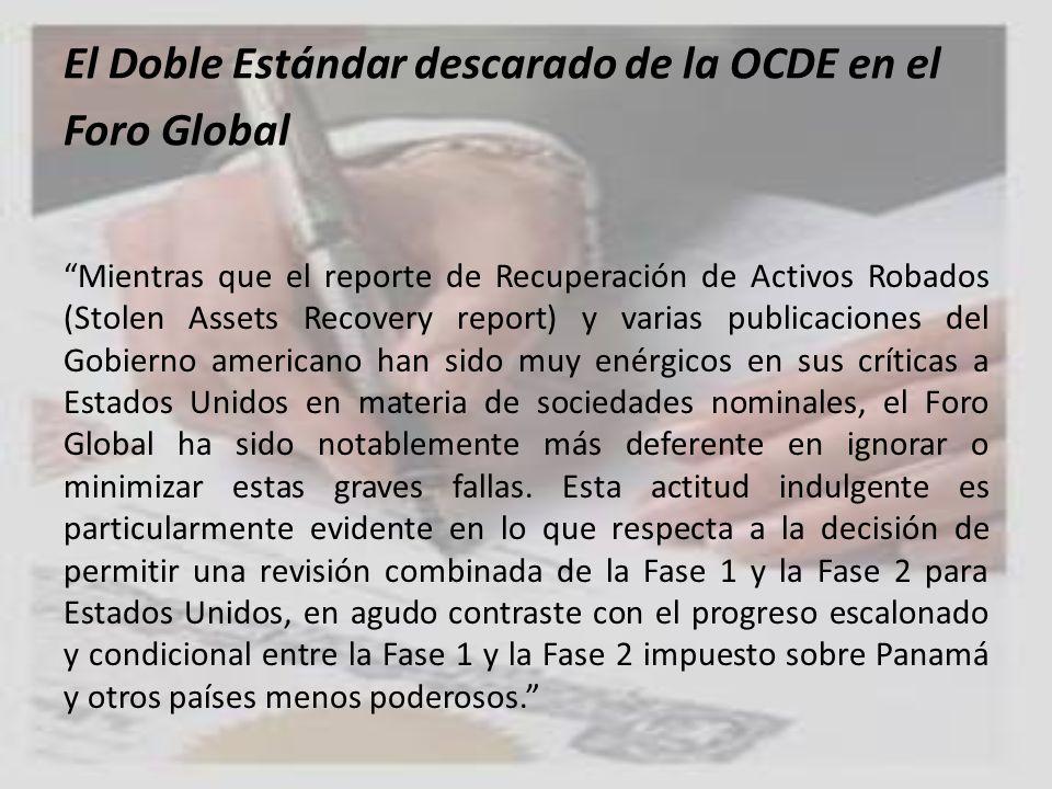 El Doble Estándar descarado de la OCDE en el Foro Global