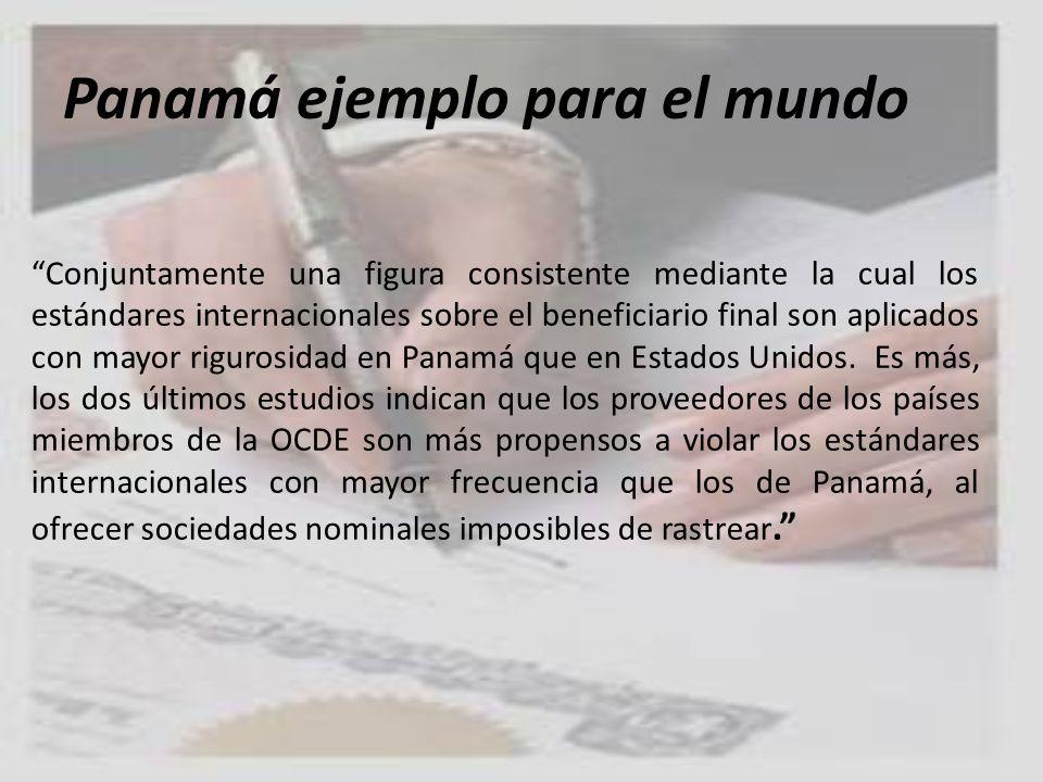 Panamá ejemplo para el mundo