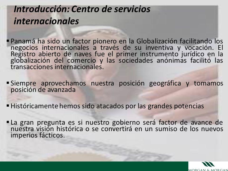 Introducción: Centro de servicios internacionales