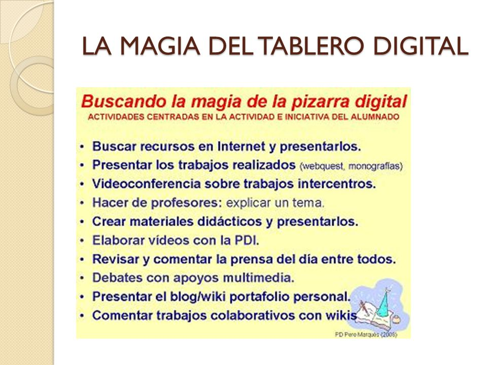 LA MAGIA DEL TABLERO DIGITAL