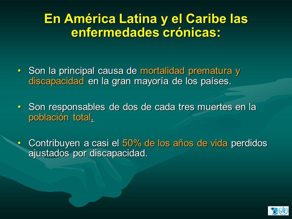 En América Latina y el Caribe las enfermedades crónicas: