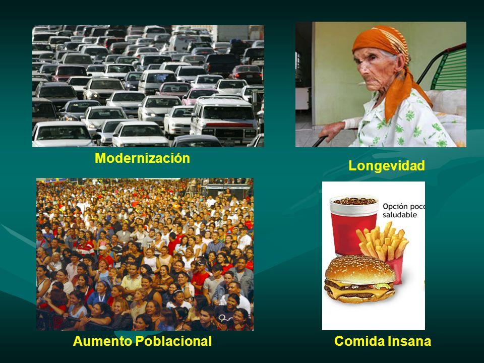 Modernización Longevidad Aumento Poblacional Comida Insana