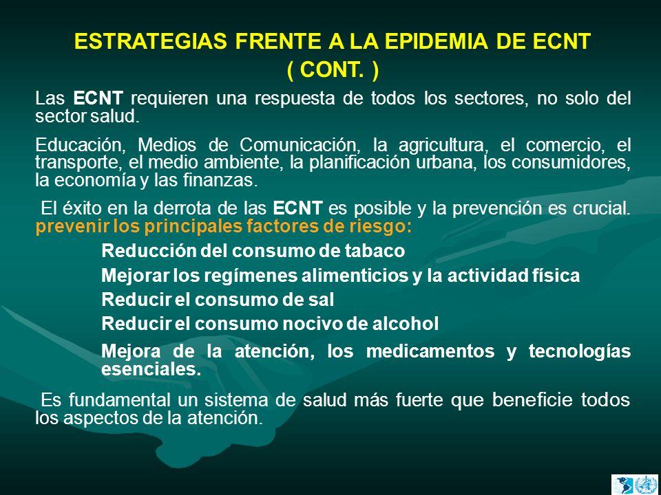 ESTRATEGIAS FRENTE A LA EPIDEMIA DE ECNT