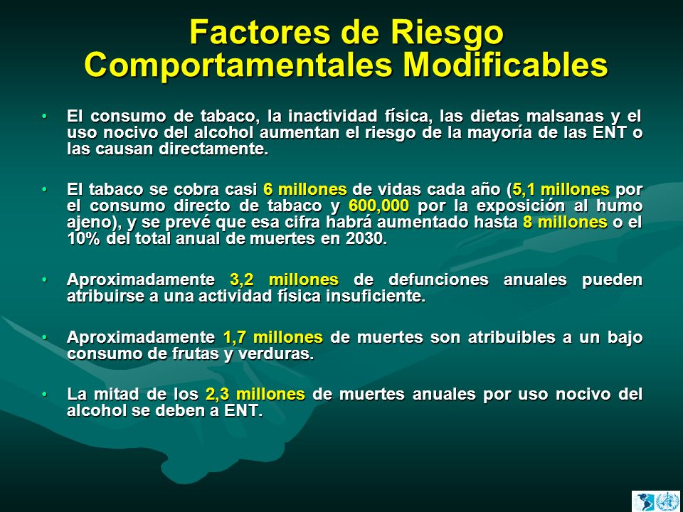 Factores de Riesgo Comportamentales Modificables