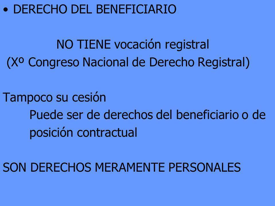 DERECHO DEL BENEFICIARIO