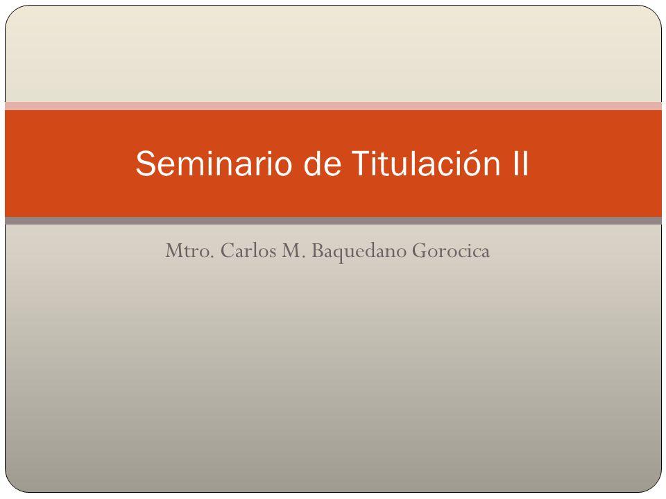 Seminario de Titulación II