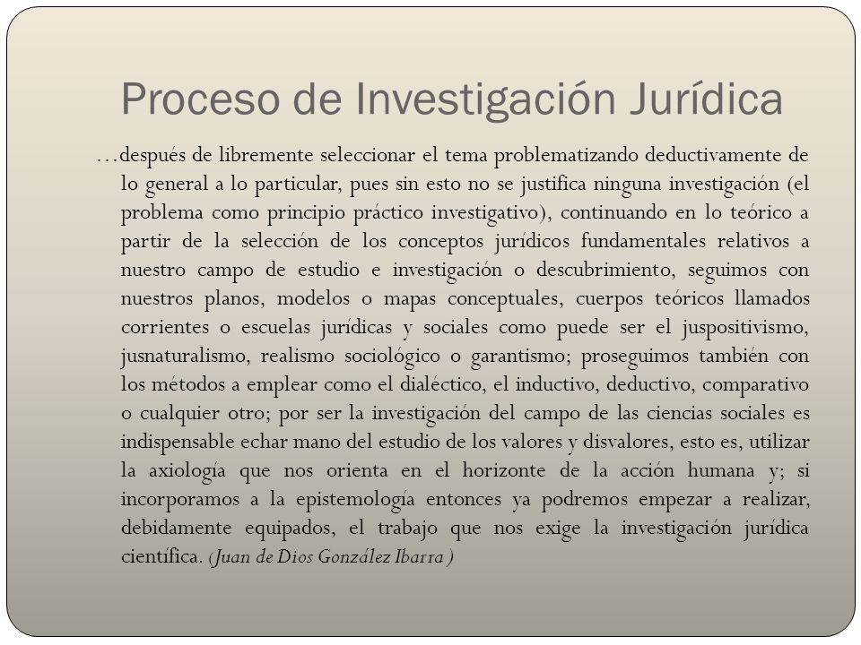 Proceso de Investigación Jurídica