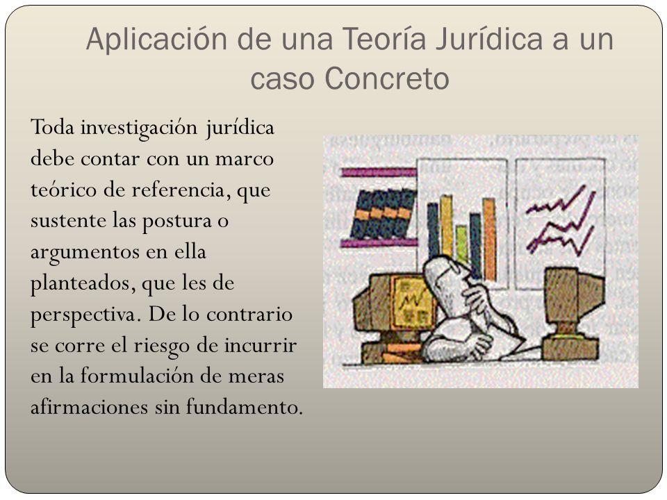 Aplicación de una Teoría Jurídica a un caso Concreto