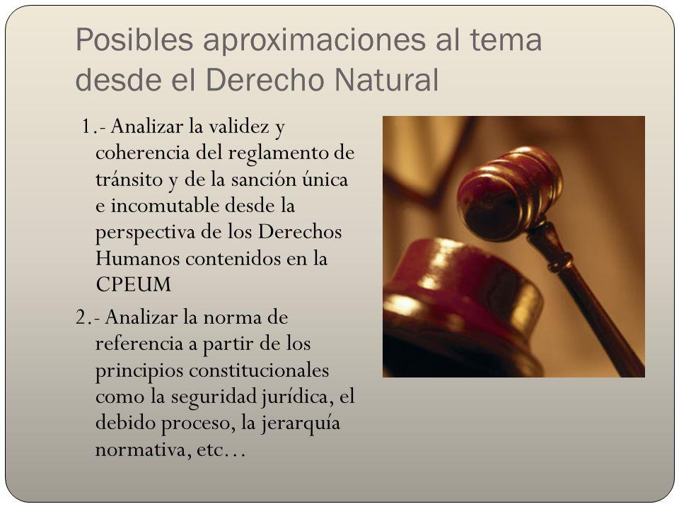 Posibles aproximaciones al tema desde el Derecho Natural