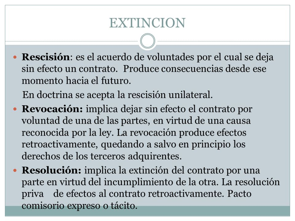Resolución unilateral del contrato