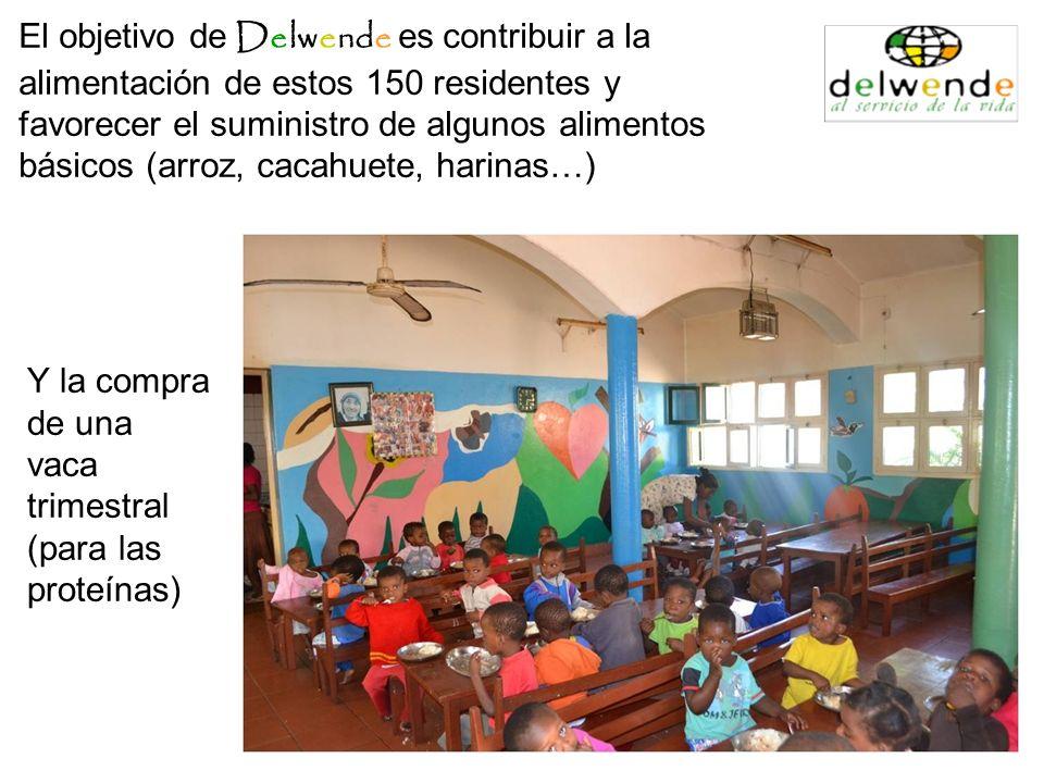 El objetivo de Delwende es contribuir a la alimentación de estos 150 residentes y favorecer el suministro de algunos alimentos básicos (arroz, cacahuete, harinas…)