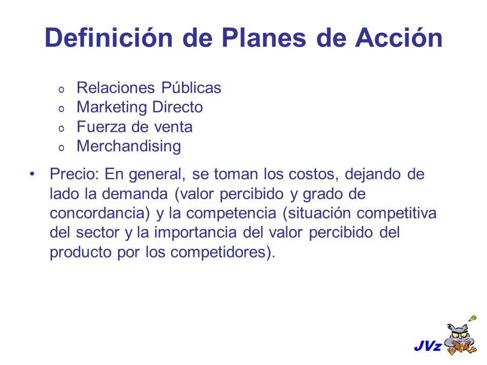 Definición de Planes de Acción