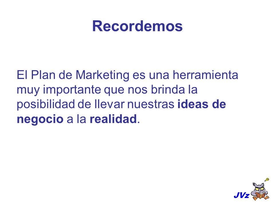 Recordemos El Plan de Marketing es una herramienta muy importante que nos brinda la posibilidad de llevar nuestras ideas de negocio a la realidad.