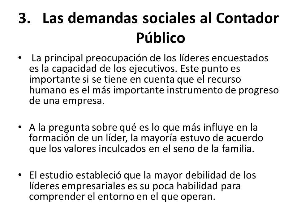 Las demandas sociales al Contador Público