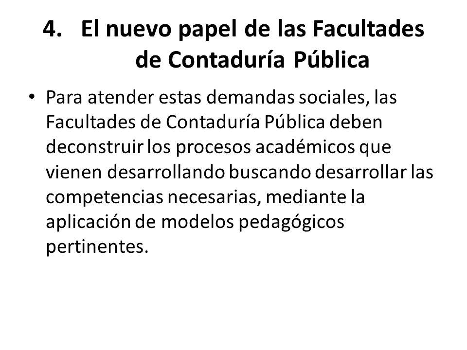 El nuevo papel de las Facultades de Contaduría Pública