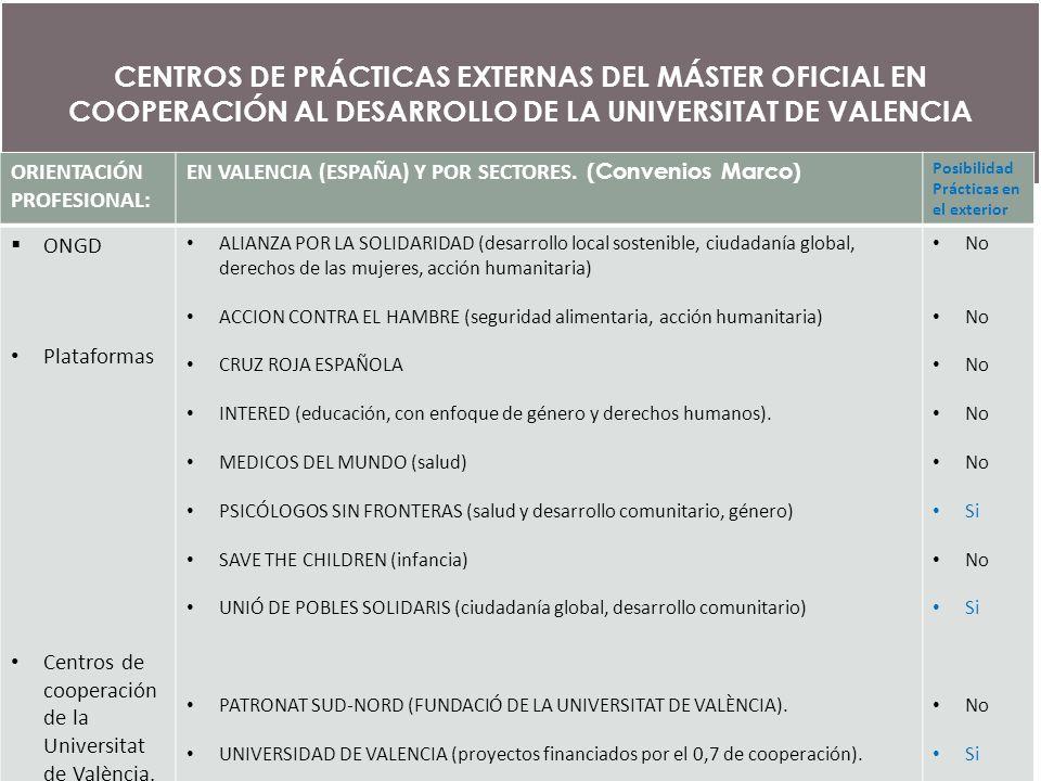 Formaci en la cooperaci universit ria al desenvolupament for Accion educativa espanola en el exterior