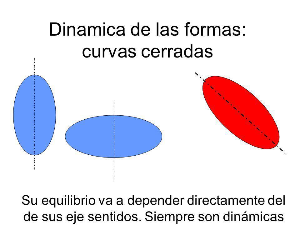 Dinamica de las formas: curvas cerradas