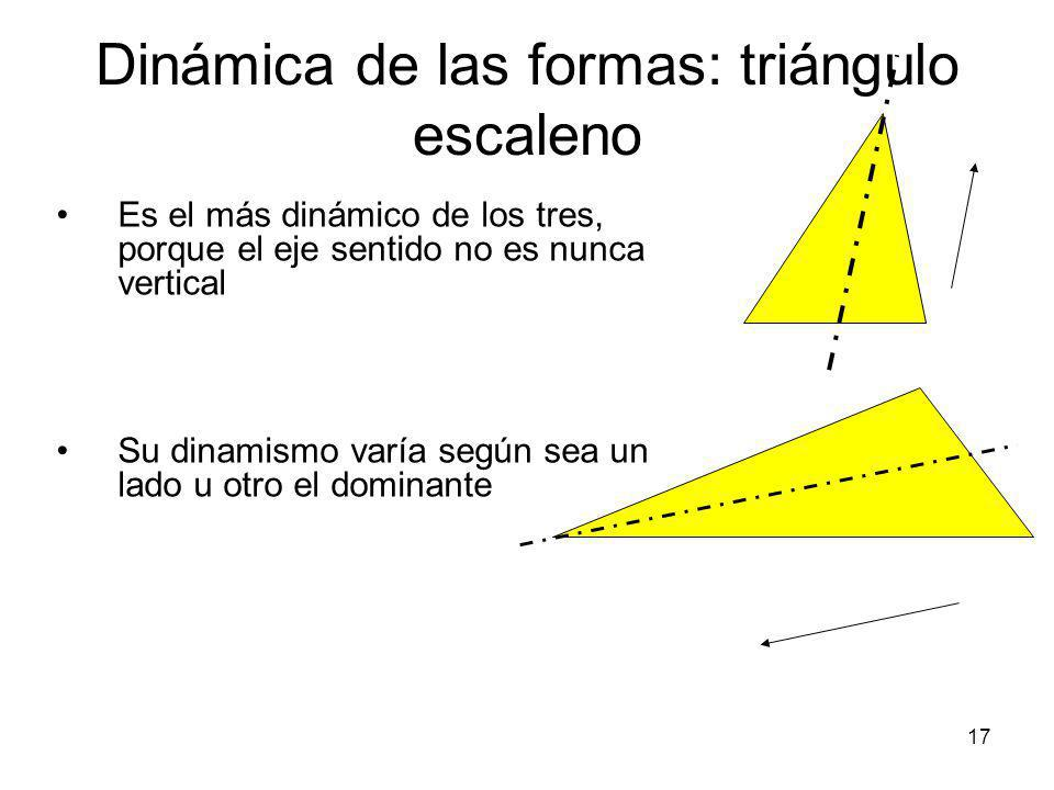 Dinámica de las formas: triángulo escaleno