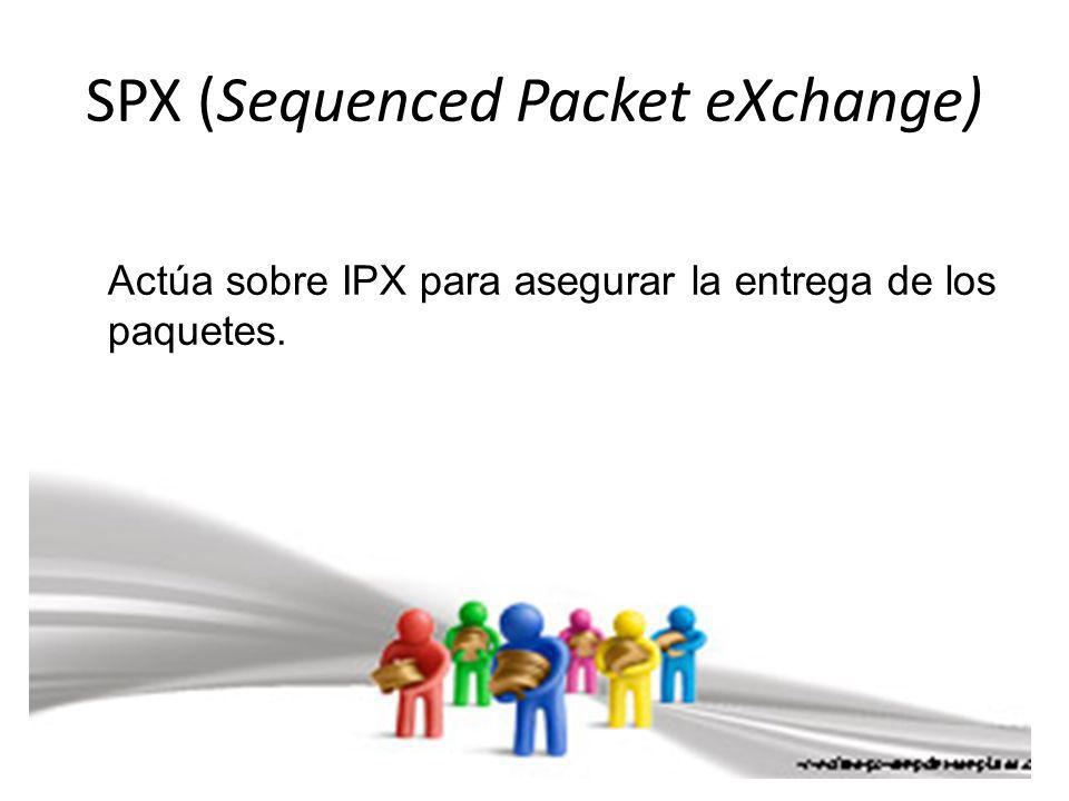 SPX (Sequenced Packet eXchange)