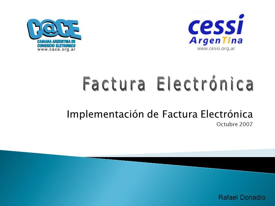 Implementación de Factura Electrónica Octubre 2007