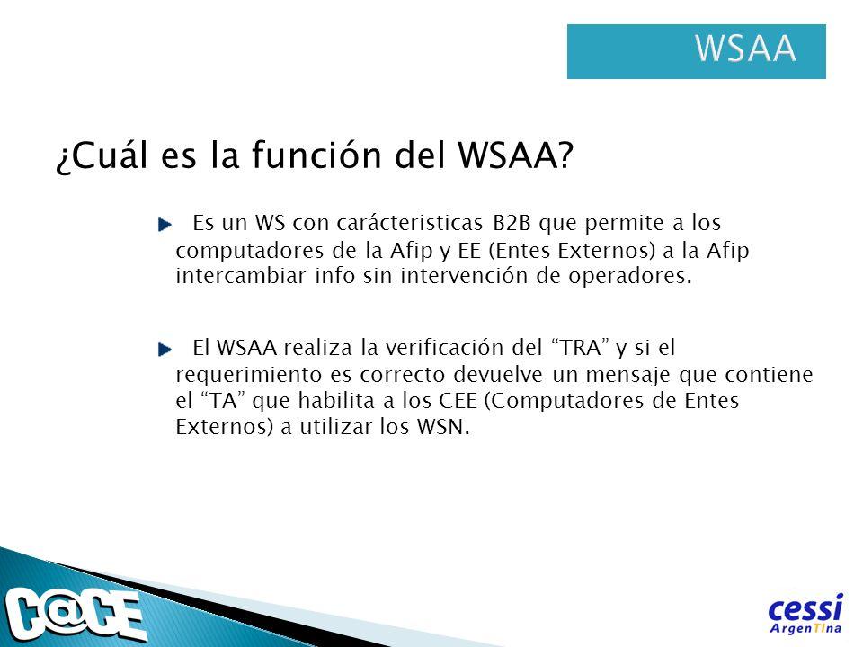 ¿Cuál es la función del WSAA