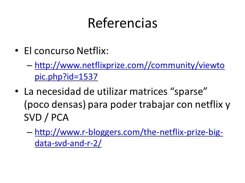 Referencias El concurso Netflix: