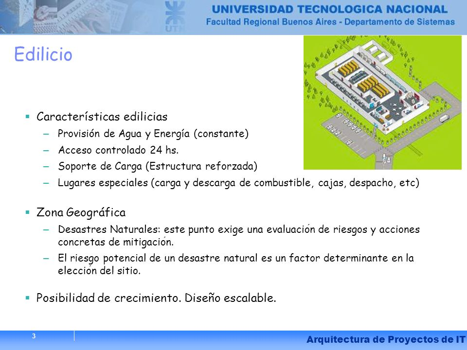 Edilicio Características edilicias Zona Geográfica