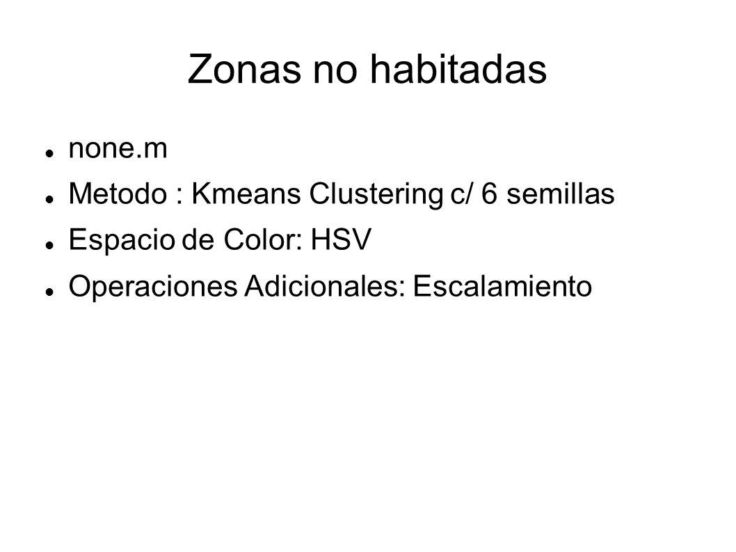 Zonas no habitadas none.m Metodo : Kmeans Clustering c/ 6 semillas
