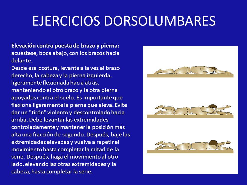 EJERCICIOS DORSOLUMBARES