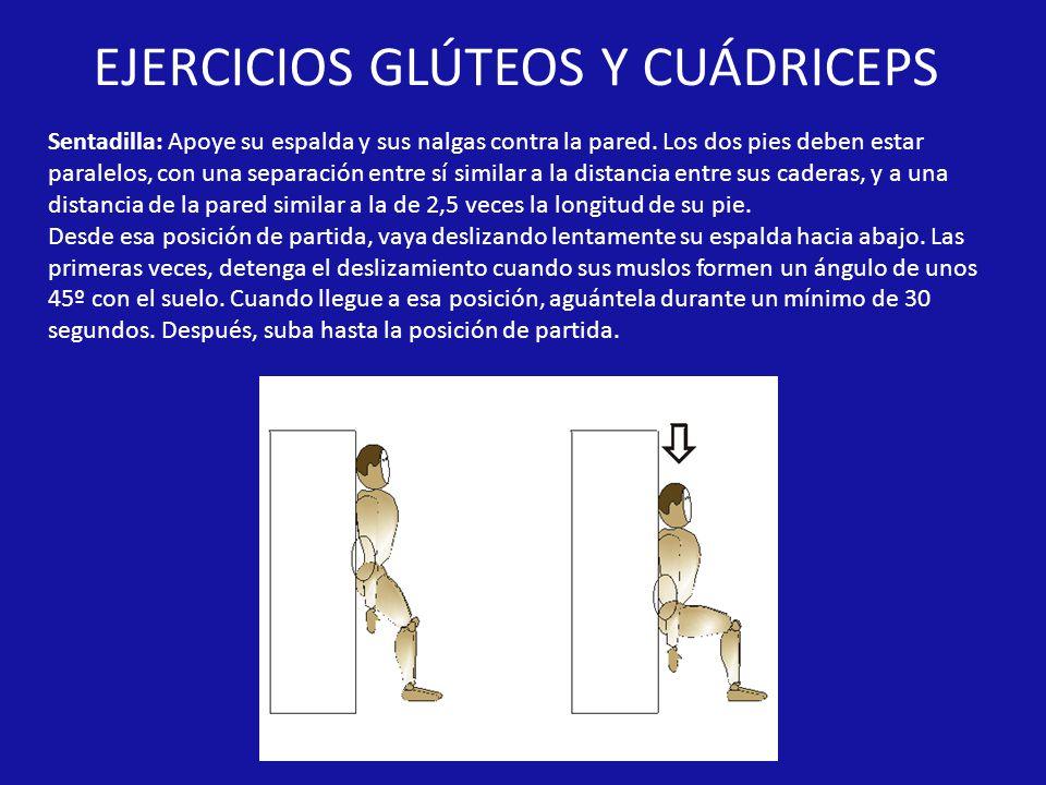 EJERCICIOS GLÚTEOS Y CUÁDRICEPS